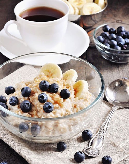 Banana and Blueberry Oatmeal