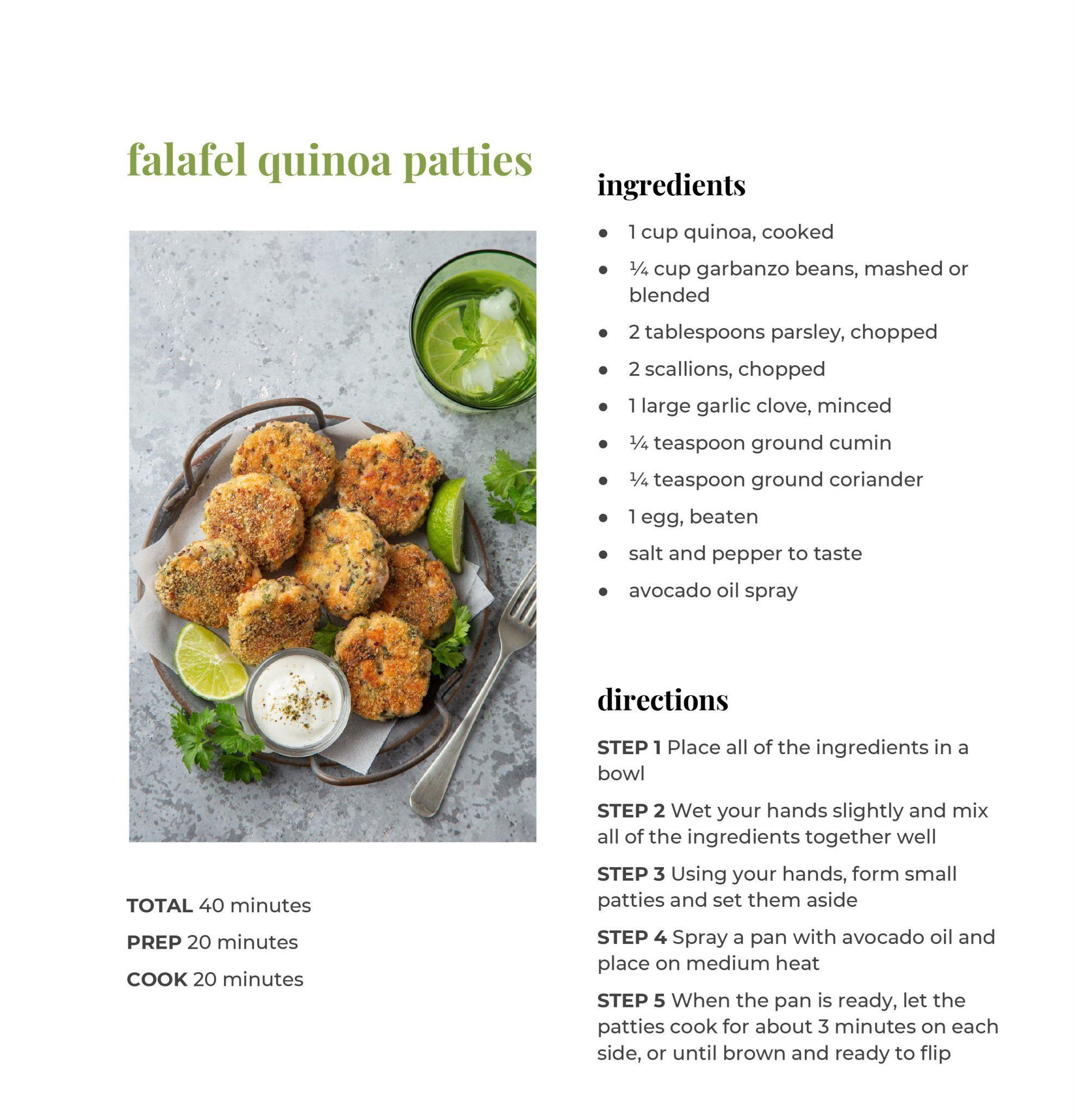 Falafel Quinoa Patties Recipe