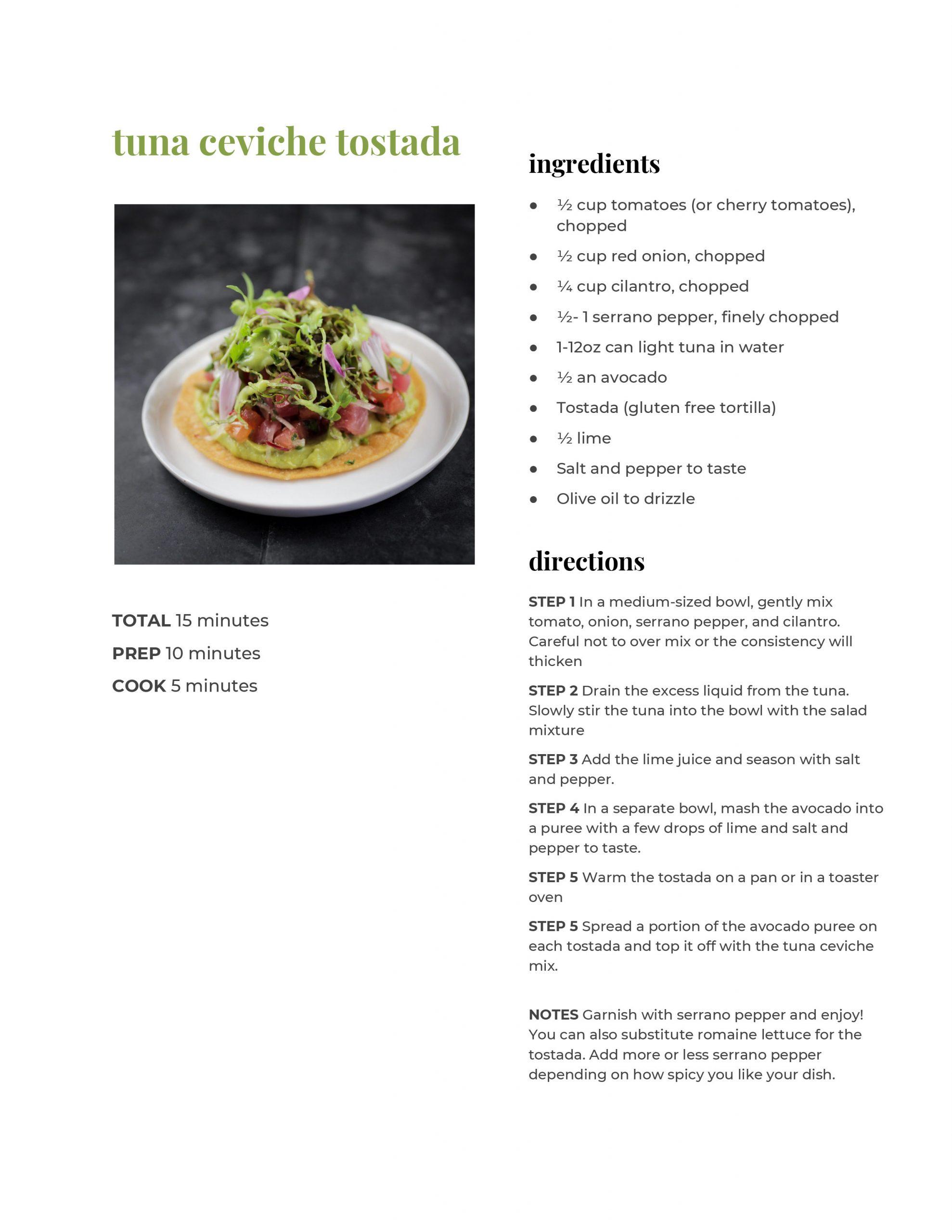 Tuna Ceviche Tostada Recipe