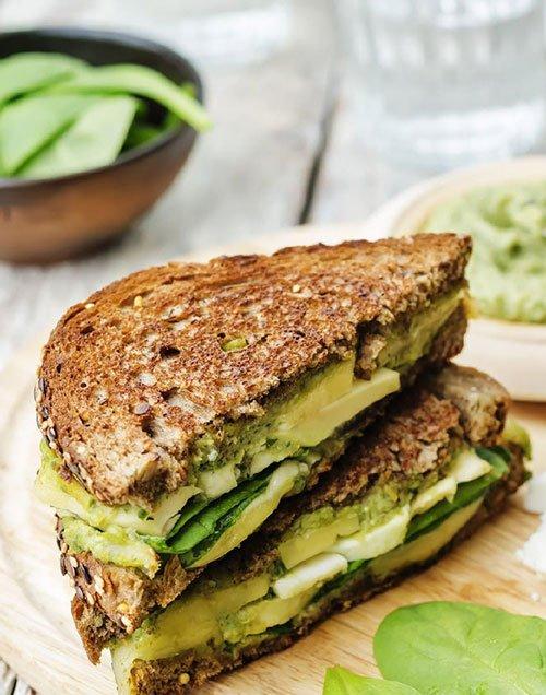 Vegan Zucchini Sandwich with Cranberry Mixed Greens Salad