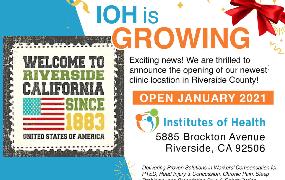 IOH is on the move!